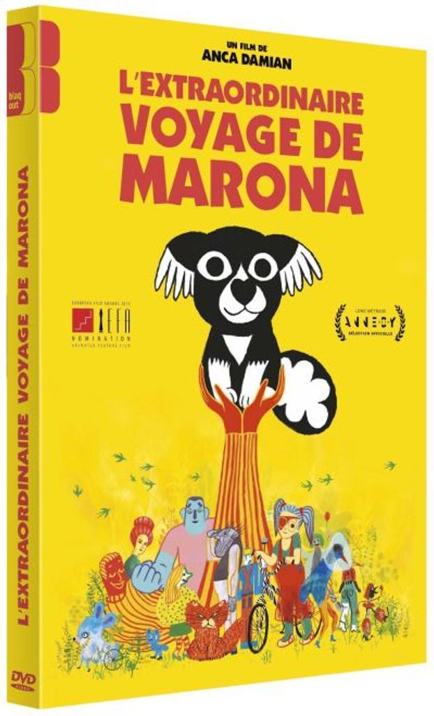 L'Extraordinaire voyage de Marona / film d'animation d'Anca Damian  | Damian, Anca. Metteur en scène ou réalisateur. Scénariste