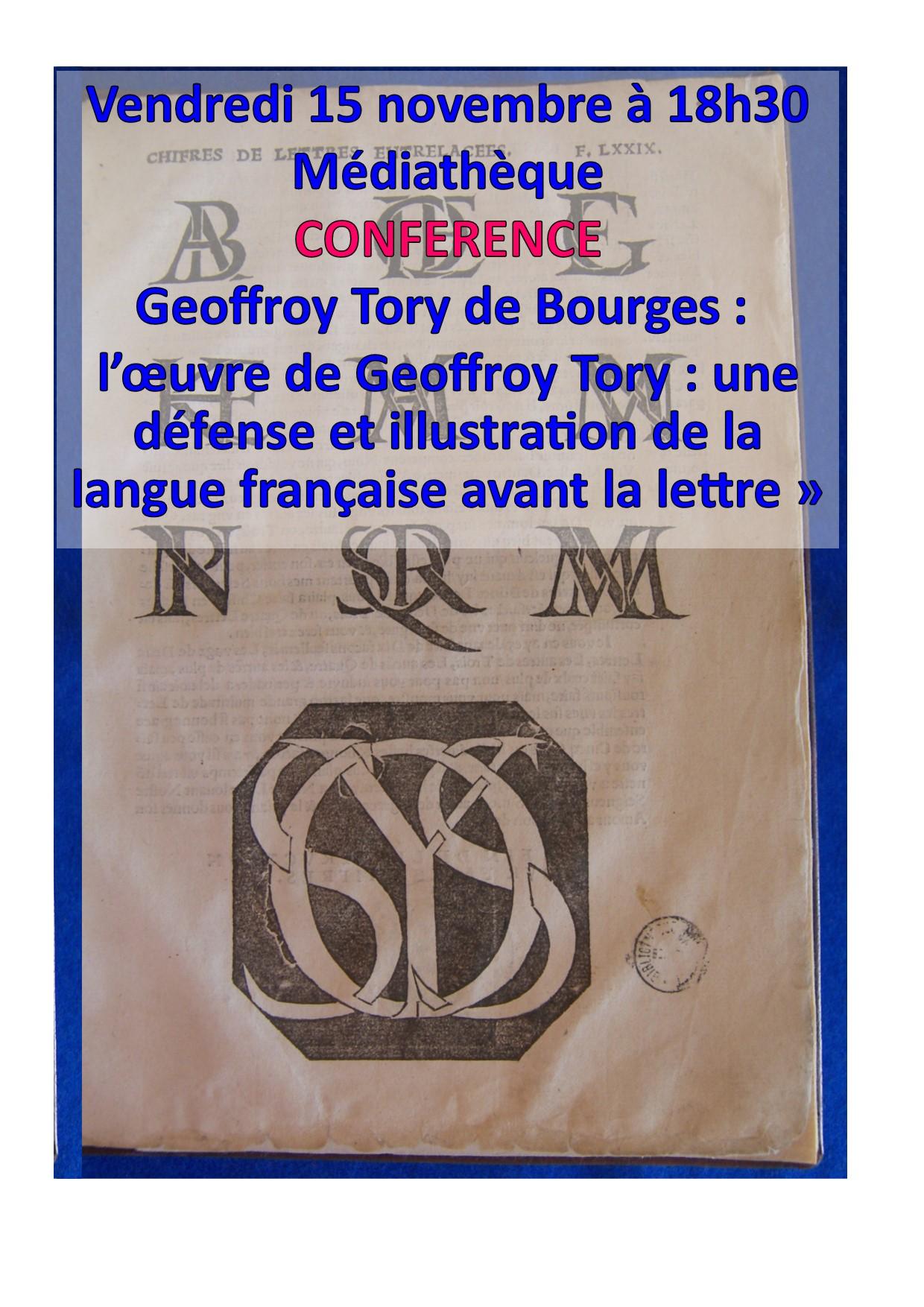 L'oeuvre de Geoffroy Tory : une défense et illustration de la langue française |